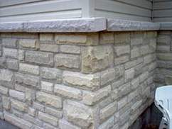 Image of home with finished with cultured stone