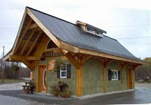 Straw bale Timber Frame Construction: Maberly Coffee House